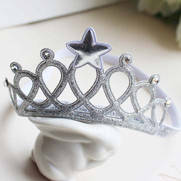 Kids Children Baby Elastic Princess Party star Crown Tiara Hair Head Band