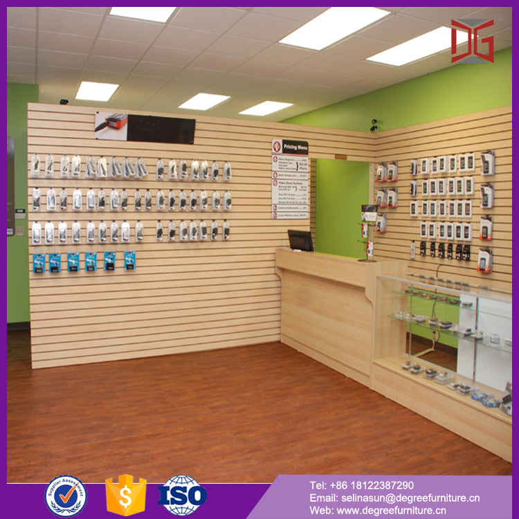 Retail store MDF modern cell phone showcase
