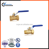 Male & Female brass ball valve single card set