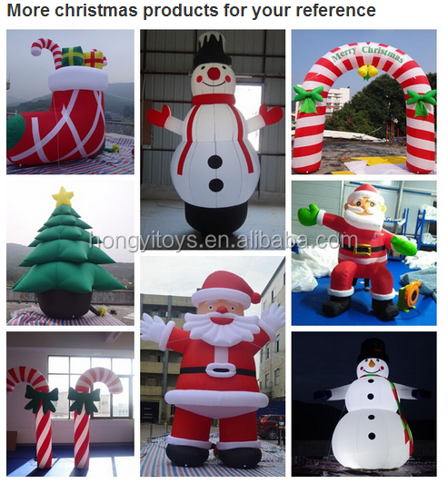PVC Airtight Inflatable Snowflake Shape , Christmas Inflatable Snowflakes With LED Light For Decorative
