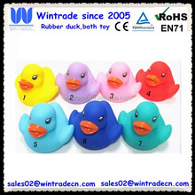 Fishing game bath toy duck numbered toy pvc duck race
