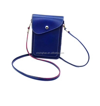 Smooth Leather Cell Phone Bag, High Quality Cell Phone Bag, Leather Purse Shoulder cell phone Bag