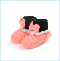 Popular warm winter baby shoes knitted cotton baby booties