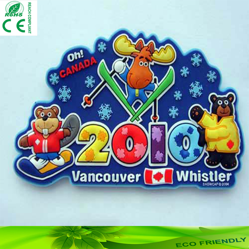 supplier Fridge Magnet Cheap Custom Tourism souvenir 3d pvc fridge magnets promotional gift