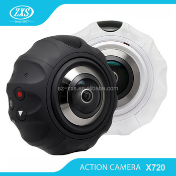 ZXS-X720 Mini Sports Action Camera Dual Lens 360 degree Panoramic VR Camera with wifi action camera sport recorder