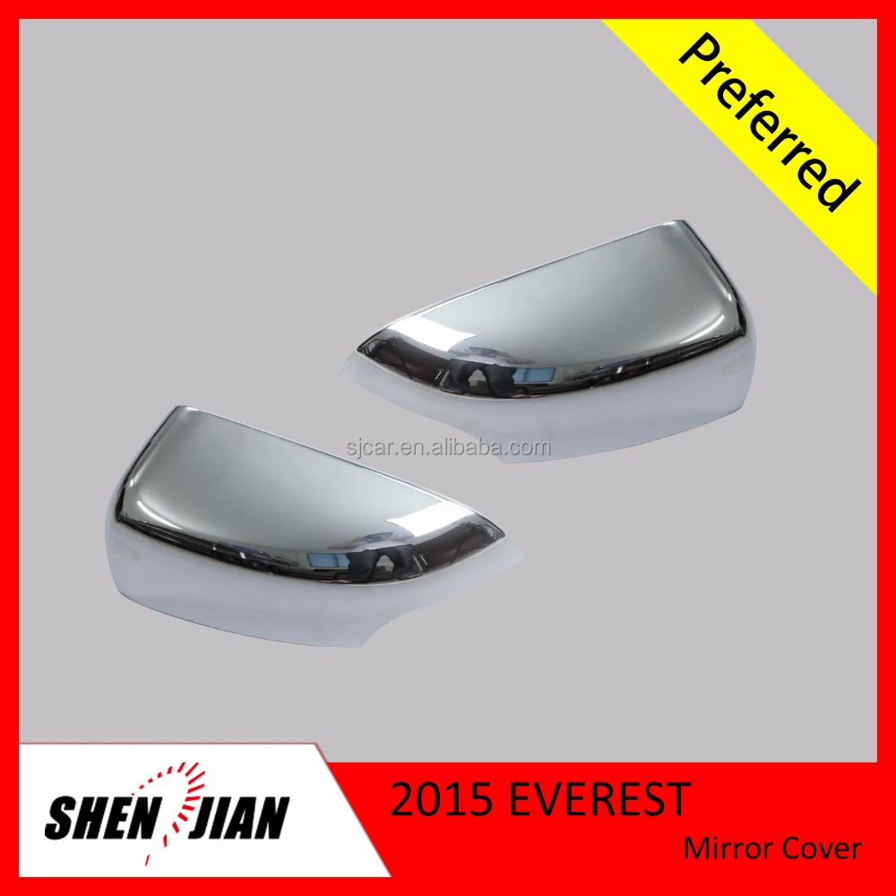 Car Protection Parts High Quality Car Exterior Accessories ABS Chrome Mirror Cover For Everest 2015
