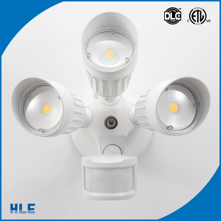 IP65 wet environment three adjustable heads waterproof 30w led security light