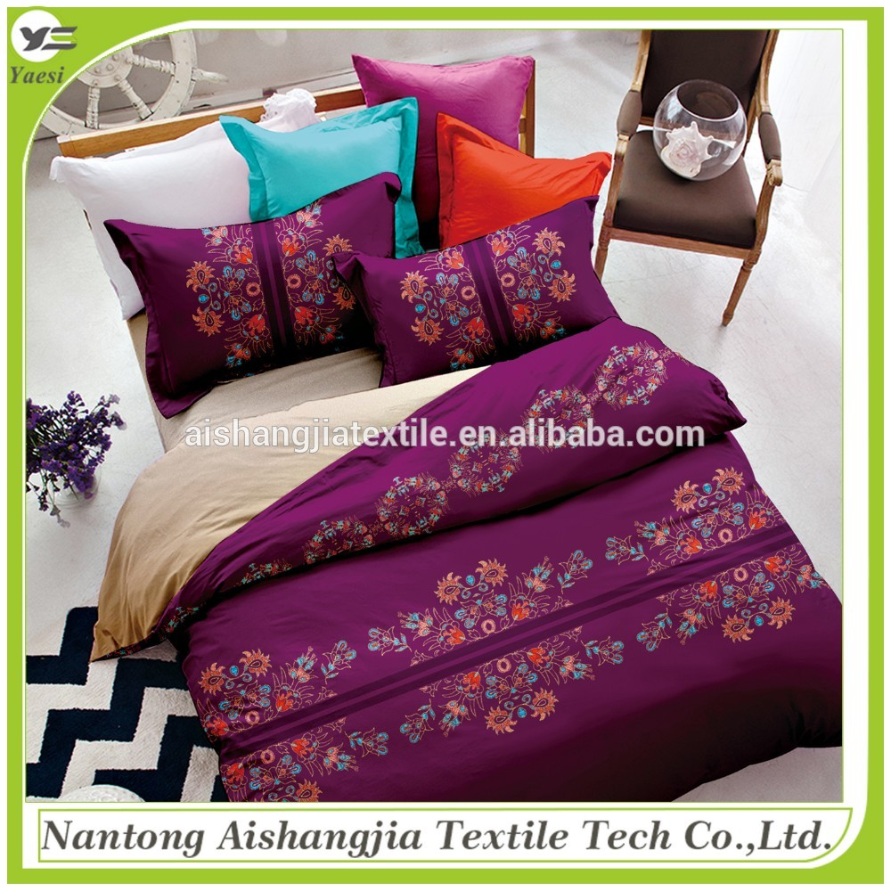 Factory price 100% polyester microfiber modern bedding sets with patchwork made in China