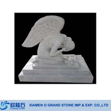 Children Weeping Angel White Marble Monuments Headstone And Tombstone