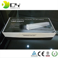 Portable Button Control LED Lamp USB Port & Power Adapter with four dimming Emergency Lights,
