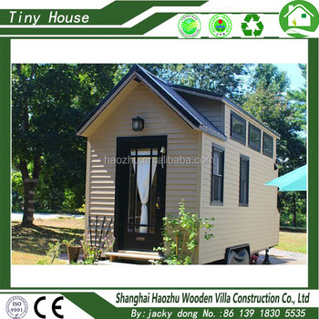 luxury low cost wood prefab tiny house on wheels