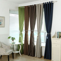 Printing blackout curtain fabric for home curtain 100% shading flame retardant