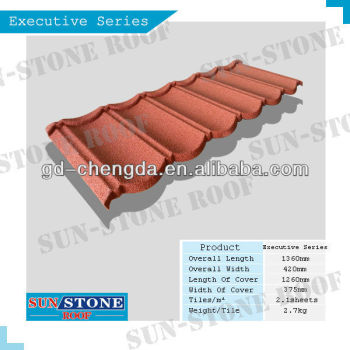 ISO, SONCAP,CE, SGS certified stone coated metal roof tile classic 1360mm*420mm