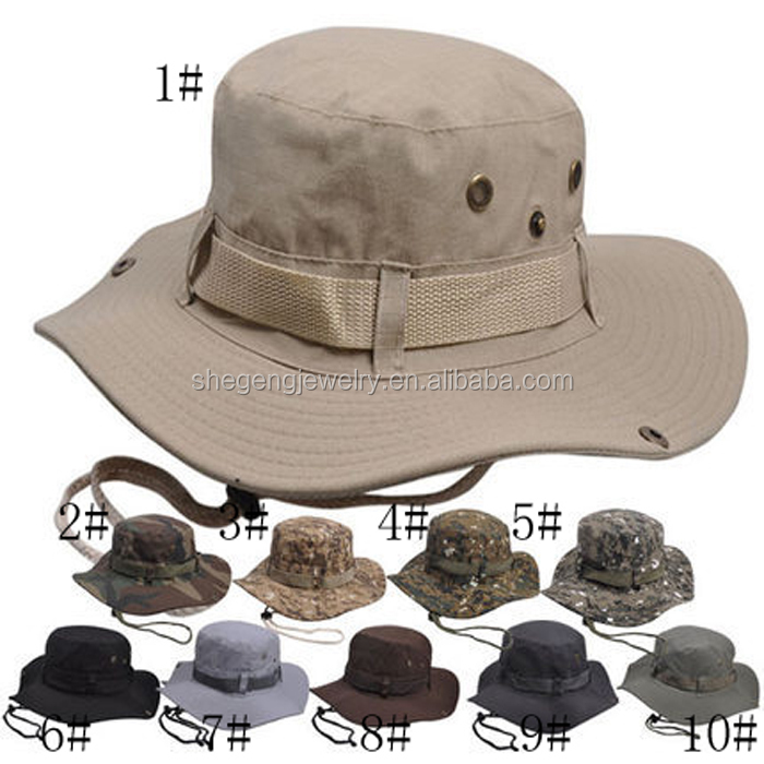 Landisun Camouflage Military Tactical Head Boonie Cap