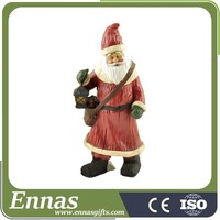 Wholesale Resin Santa Crafts Unique Christmas Gifts