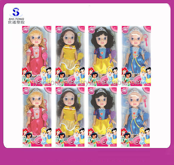 2015 New Product Plastic Lovely Princess Fashion Barbie Doll for Girls