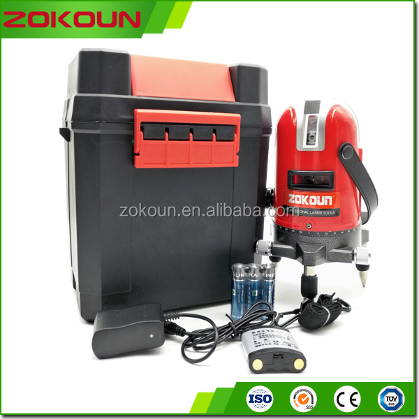 ZKLL02R Electronic Auto Self leveling 360 trimming system laser level