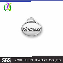 CN185022 Yiwu Huilin Jewelry Hot Selling Antique Tibetan Silver oval design kindness Charms Pendants DIY Supplies Jewelry Making