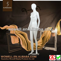 Fashion glossy white female manikin for sale