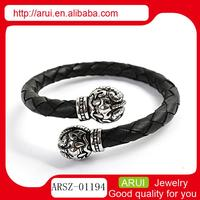 Made in China jewelry wholesale cheap engraved leather bracelets