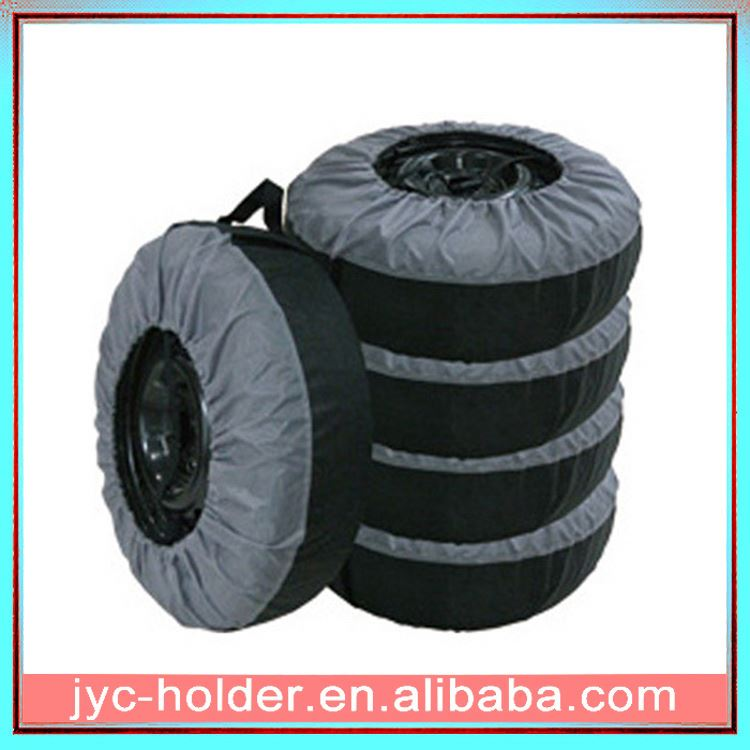 tyre protection cover ,H0T022 plastic car tire bags , car tyre covers