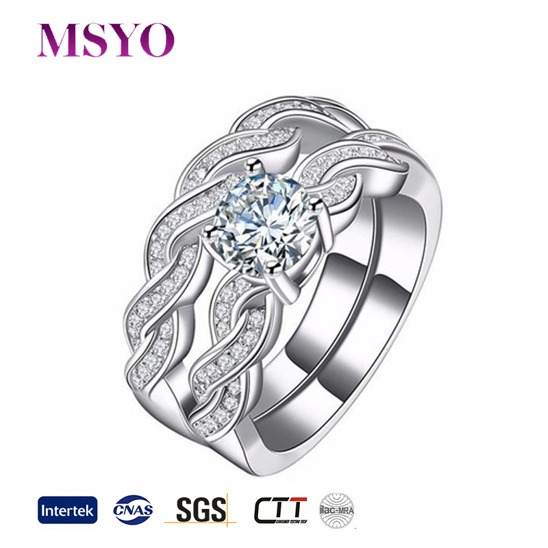 Cheap high quality fashion diamond gold ring design for couples