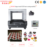 single head or 2 head large vision YH1810 1812 1814 laser cutting machines for fabric sublimation textile