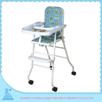 2016 New Arrival High Quality Plastic And Steel High Chair For Baby