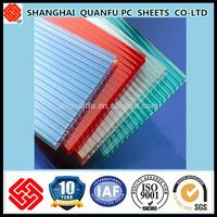 ten years warranty bayer blue roofing lexan polycarbonate hollow sheet greenhouse wall sheets