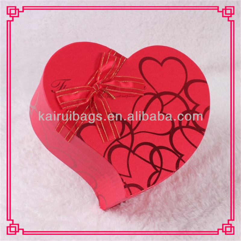 Make Fashion Red Gift Paper Heart Shaped Box