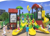 Kaiqi Group Tree House Series KQ60030A popular residential plastic outdoor playground equipment with slides satir, climber