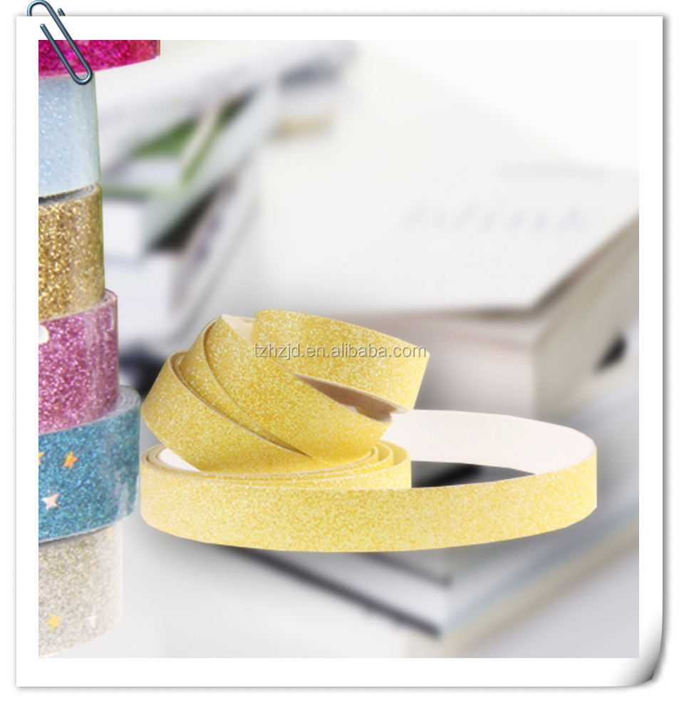 Decorative glitter masking tape