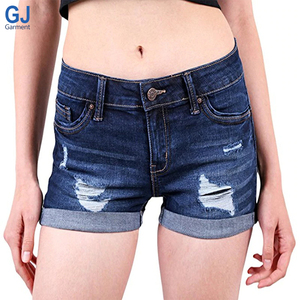 Fashion Custom Designed Summer Women Denim Mini Short Jean Jeans Tight Sexy Woman Mujer Cotton Booty Shorts