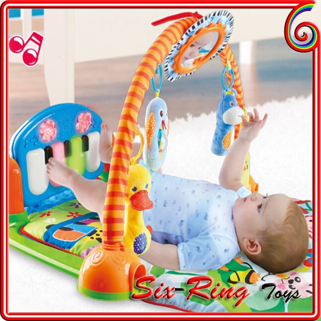 2015 OEM baby cushioned play mat baby play gym mat fisher price play mat with music