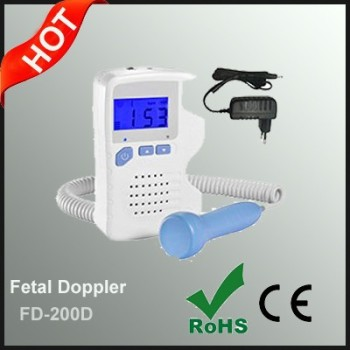 Portable Pocket Ultrasound Fetal Doppler for Home Hospital Clinic Use