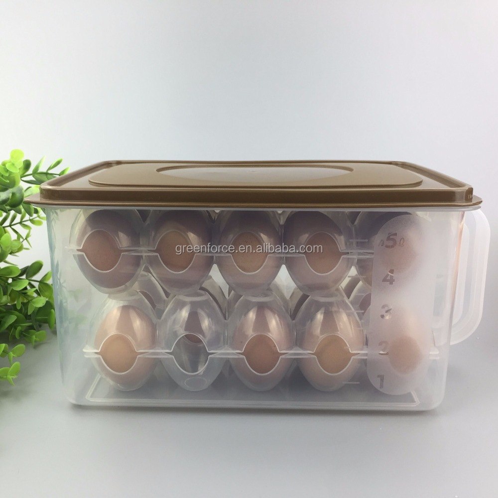 Large size fridge fresh keeping plastic food storage container packaging box for vegetables