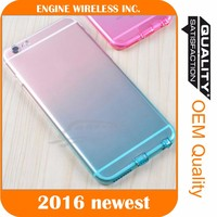Ultra Thin Gradual Change TPU Soft Clear Case Cover for samsung S5 9600