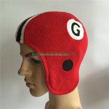 winter football knitted beanie hat maker factory