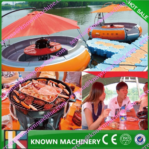 Powerful Electric Boat/FRP BBQ Lake Boats for Meeting/Party