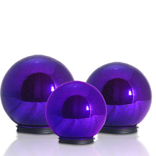 wholesale christmas ornaments mercury glass ball with led lights