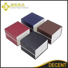 Ready Stock Black Brown Blue Red Cardboard Paper Single Watch Packaging Boxes Wholesale