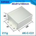 DIY wall mount extruded aluminum automation control box case project box case pcb enclosure