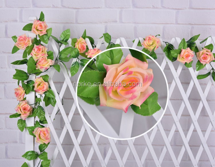 artificial rose flower garland for wedding dectoration NKG175