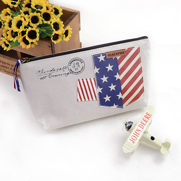 Languo fashion make up bag / cosmetic case with flag style nice design in high quality LGGQ-2652