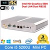 mini pc tv box intel Core i5 5200U processor Windows 8.1 compatible personal computer small size no fan htpc computer case