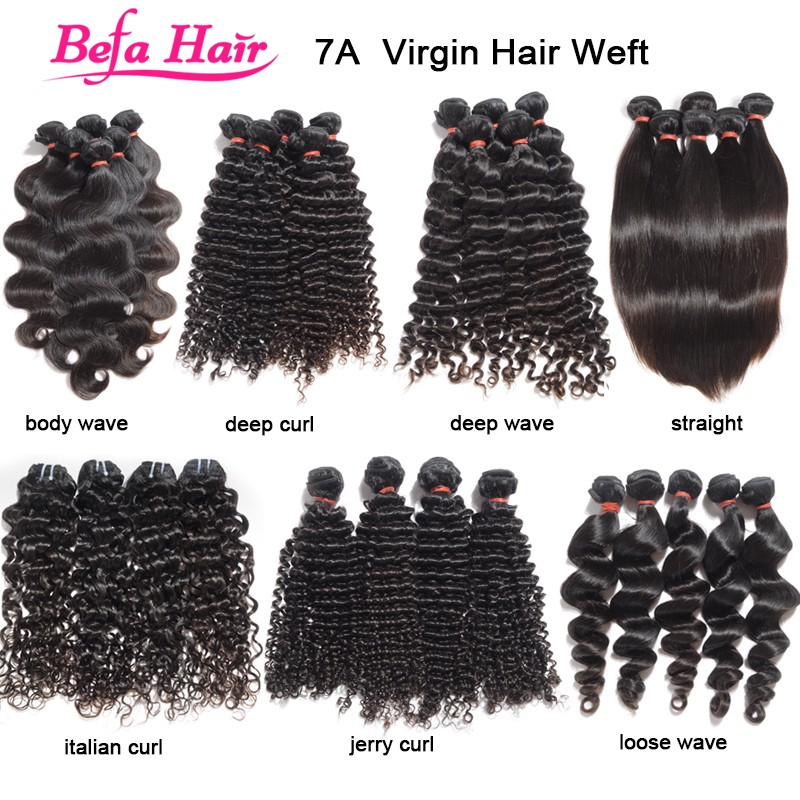 Befa Hair 100% Donor Human 7A Virgin Brazilian Hair Unprocessed