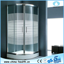 Curved glass circular round shower enclosure