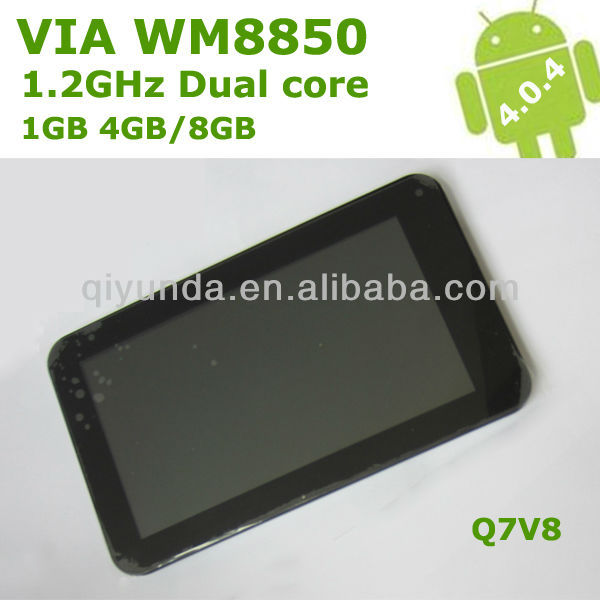 "7"" Dual Core tablet via wm8850"