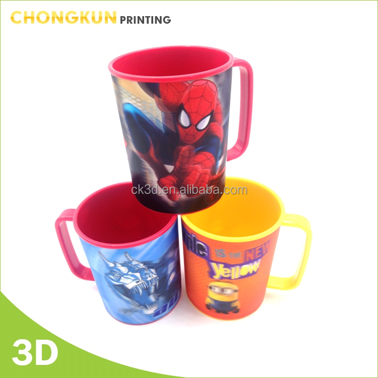 3D PP plastic beer/juice mug cup drinking Mug with handle