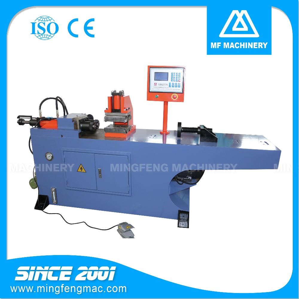 PM-38-2S-B CE ISO approved manufacturer single head hydraulic pipe shrinking forming machine